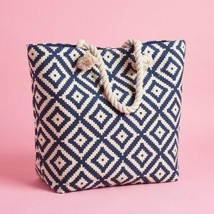 Summer & Rose Navy Diamond Tote Bag